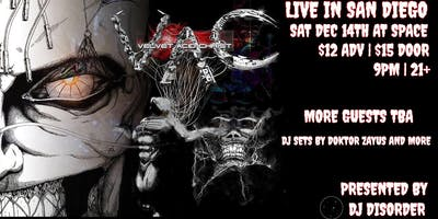 Velvet Acid Christ plus guests TBA live in San Diego at SPACE