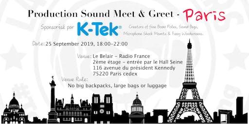 K-Tek & AREITEC vous invitent to a Production Sound Meet & Greet - Paris