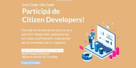 Low Code / No Code - Citizen Developers Córdoba entradas