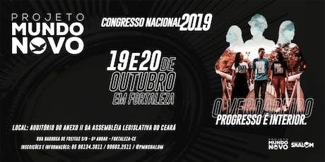 CONGRESSO NACIONAL 2019 PROJETO MUNDO NOVO SHALOM ingressos