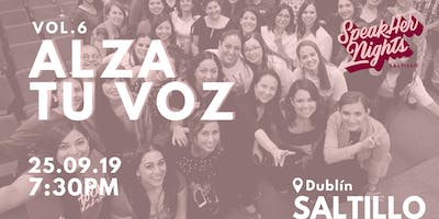 SpeakHer Nights Saltillo Vol. 6 | Alza tu voz