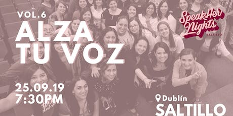 SpeakHer Nights Saltillo Vol. 6 | Alza tu voz boletos