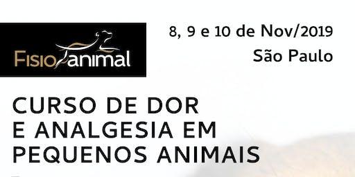 III Curso de Dor e Analgesia em Pequenos Animais