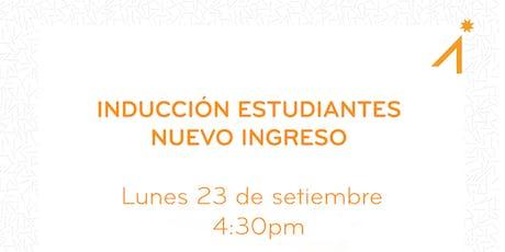 Bienvenida e Inducción Estudiantes Nuevo Ingreso III Cuatrimestre entradas