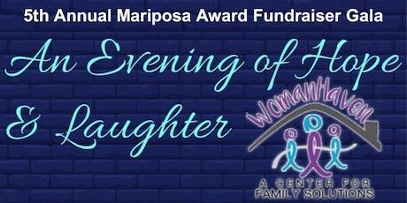 5th Annual Mariposa Award Fundraiser Gala tickets