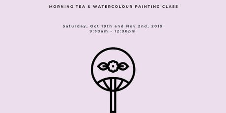 MORNING TEA & WATERCOLOUR PAINTING WORKSHOP: Painting LOTUS on Chinese FANS tickets