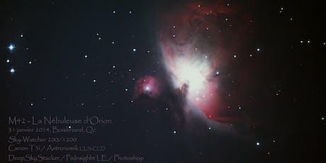 Conférence Astronomie en milieu urbain à Boisbriand billets