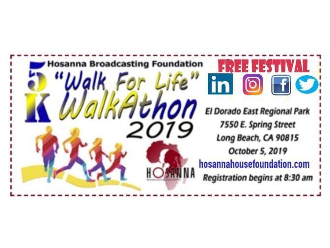 """HBNTV 1st Annual 5K """"WALK FOR LIFE"""" Walkathon 2019"""