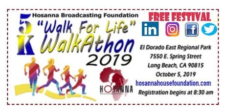 "HBNTV 1st Annual 5K ""WALK FOR LIFE"" Walkathon 2019 tickets"