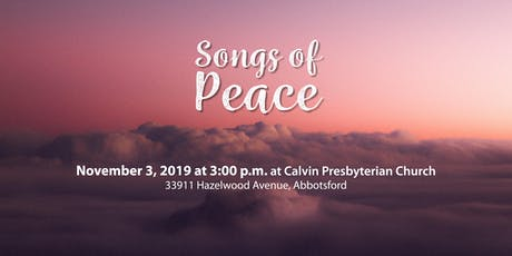 Songs of Peace tickets