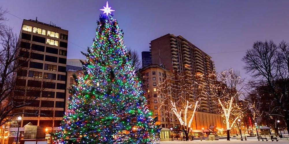 2019 Boston Common Tree Lighting Ceremony Wbop Promotions