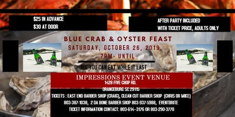 BLUE CRAB & OYSTER FEAST tickets