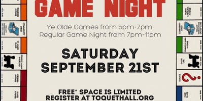 Game Night w/ Ye Olde Games