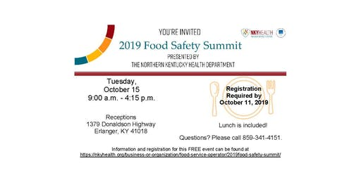 2019 Food Safety Summit - Northern Kentucky Health Department