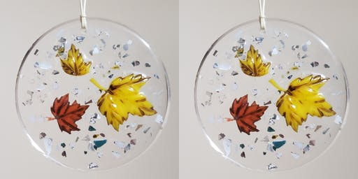 Autumn Leaves Resin Suncatchers