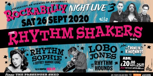 Rockabilly Night LIVE 3: The Rhythm Shakers plus Special Guests
