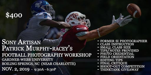 College Football Photography Workshop in North Carolina