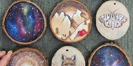 Paint & Drink: Wooden Holiday Ornaments! tickets