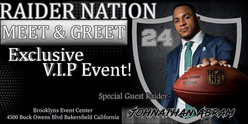 Raiders Johnathan Abram Exclusive Meet and Greet!