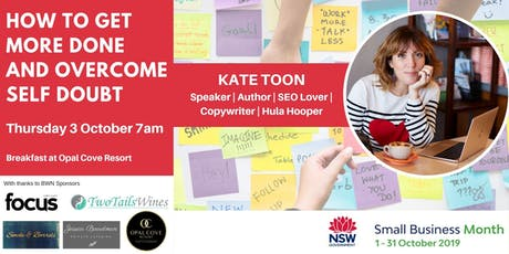 BWN Oct event - How to get more done and overcome self doubt with Kate Toon tickets