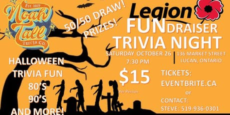 Halloween FUNdraiser Trivia Event tickets