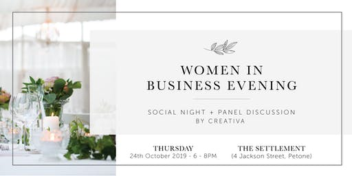 Women in Business Evening by CREATIVA - October 2019