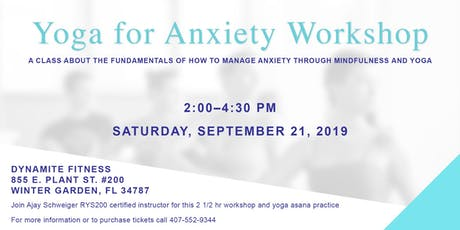 Yoga for Anxiety Workshop tickets
