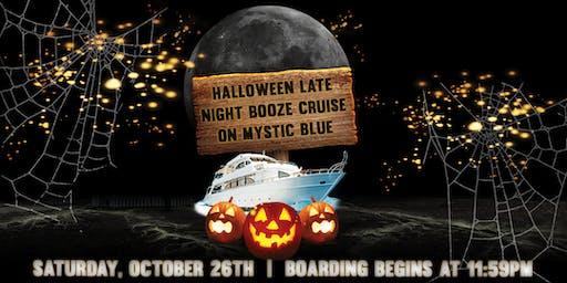 Halloween Late Night Booze Cruise aboard Mystic Blue on October 26th