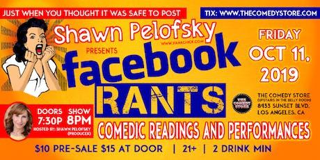 Facebook Rants tickets