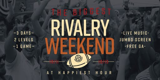 The Biggest Rivalry Weekend at Happiest Hour: TX vs. OU