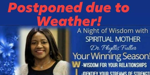 POSTPONED Relationship Wisdom Young Ladies and Women -  Dr. Phyllis Full