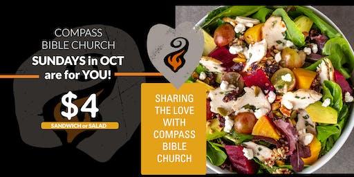 Sundays are $4 you, Compass Bible Church
