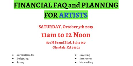 ARTISTS' FINANCIAL PLANNING tickets