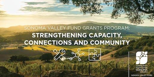 Sonoma Valley Capacity Building Grants Workshop