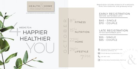Health & Home: 4 Weeks to a Happier, Healthier You tickets