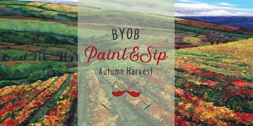 BYOB Second Saturday Paint + Sip Party, Autumn Harvest