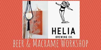 Macrame Pumpkin Hang Workshop at Helia Brewing Co.