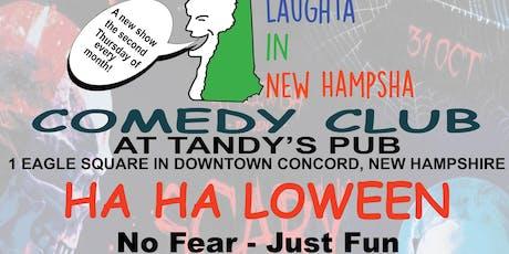 October 10, 2019 Comedy Show at Tandy's Pub: HA HA ---LOWEEN tickets