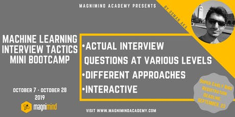 Machine Learning Interview Tactics Mini Bootcamp (4 days - 12 hours) tickets