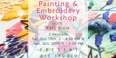 Paint and Embroidery Workshop with Katy Biele in Vancouver tickets