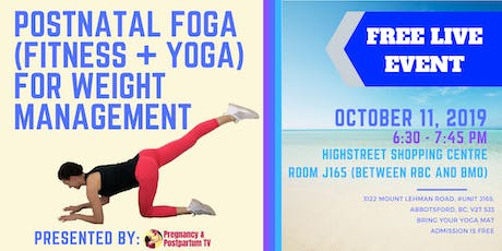 Postpartum Yoga For Weight Management + Weight Strategies Mini-Session tickets