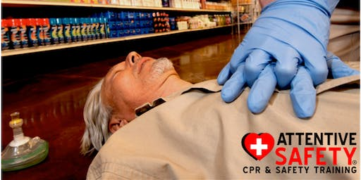 ASHI First- Aid CPR AED Training $80 (Every first Saturday/Monthly)