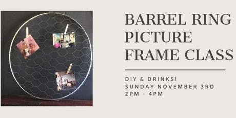 DIY & Drinks--Wine Barrel Picture Frame tickets