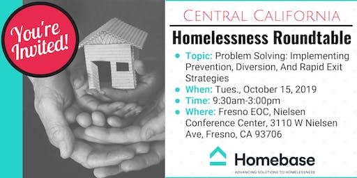 Central California Homelessness Roundtable, October 15, 2019