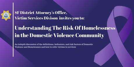 Understanding the Risk of Homelessness in the Domestic Violence Community tickets