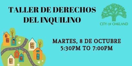Taller de Derechos del Inquilino (Tenants' Rights Workshop) tickets