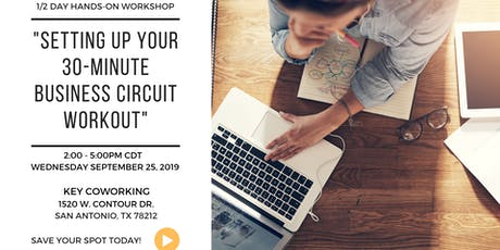 Setting up your 30-Minute Business Circuit Workout tickets