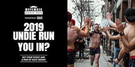 Movember Undie Run presented by SAXX - Toronto tickets
