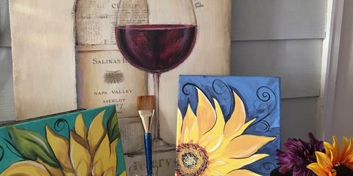 $15 BYOB Sunflower painting event
