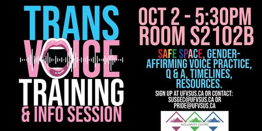 Trans Voice Training and Info Session